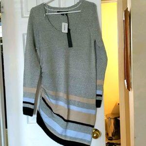 A symmetrical sweater